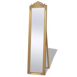 Vrijstaande Spiegel Barok 160x40cm Goud