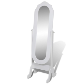 Vrijstaande Kantelbare Spiegel Wit 164 x 46 x 48 cm