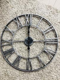 Klok zilver grijs  60cm