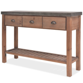 Sidetable Hout 122x35x80