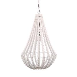 Kralenlamp wit 40cm