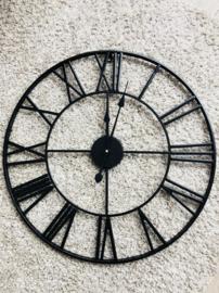 Klok zwart 60cm metaal