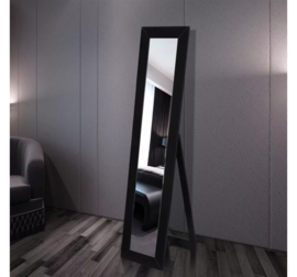 Vrijstaande Spiegel Zwart 150 x 36 x 39 cm