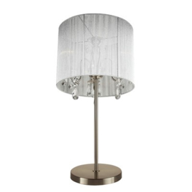 Tafellamp zilver grijze kap