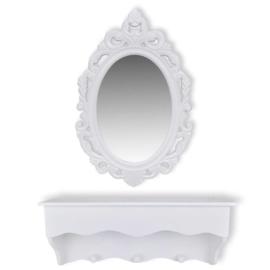 Spiegel met kastje/kapstok