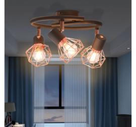 Plafondlamp Koper Zwart