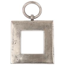Fotolijst ruw nikkel inclusief wandhaak 15x15cm