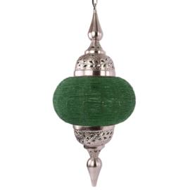 Hanglamp arabisch zilver appelgroen 33X73 cm