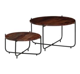 Salontafels set van 2 Massief hout