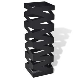 Parapluhouder Staal Zwart 15.5 x 15.5 x 48.5 cm