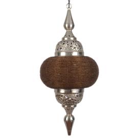 Hanglamp arabisch bruin zilver 33X73 cm