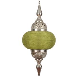 Hanglamp arabisch zilver lichtgroen 33X73 cm