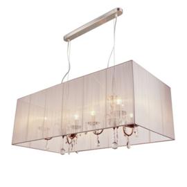 Hanglamp Merel rechthoek 6 lichts + witte kap