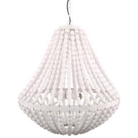 Kralenlamp wit