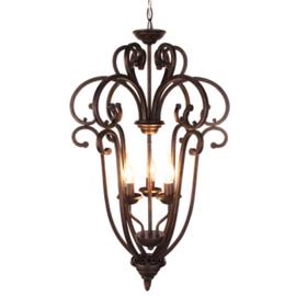Hanglamp 3 lichts donkerbruin