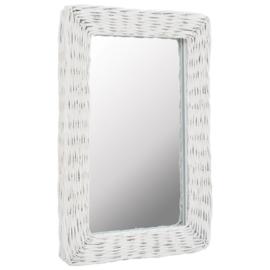 Spiegel Riet Wit 40x60 cm