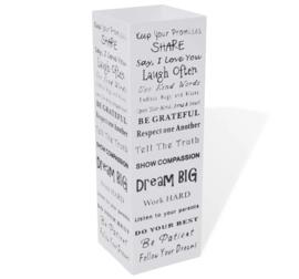 Parapluhouder Staal Wit Tekst 15,5 x 15,5 x 48,5 cm