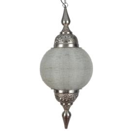 Hanglamp arabisch zilver wit 38X87 CM