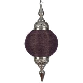 Hanglamp arabisch paars zilver 38X87 CM