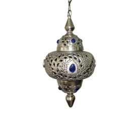 Hanglamp Marrakech klein met blauwe stenen