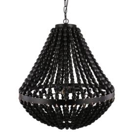 Kralenlamp zwart