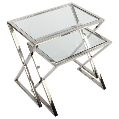 Bijzettafel Glas Chroom.Bijzettafels Luxe Woonaccessoires