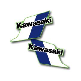 83 KAWASAKI KX Tank stikkers.