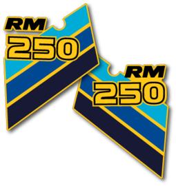 86 SUZUKI RM Radiator stikkers.