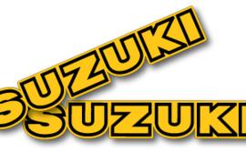 78 SUZUKI RM Tank stikkers.