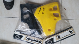 86-99 SUZUKI RM80 Koelerkap geel.