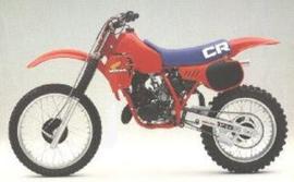 83 HONDA CR125 Komplete plastik kit.