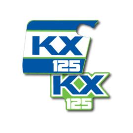 88 KAWASAKI KX Radiator stikkers.