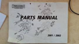 Husaberg 2001-2002 Parts manual.
