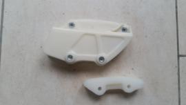 88-89 HONDA CR125 CR250 CR500  Ketting geleider set.