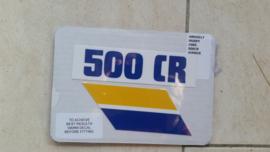 85 Husqvarna 500CR Airbox stikkers.