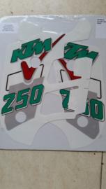 91 KTM 125 250 500 Radiator stikkers.