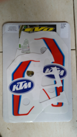 87 KTM 125 250 500 Radiator stikkers.