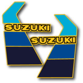 84 SUZUKI RM Radiator stikkers.