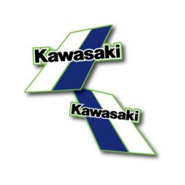 84 KAWASAKI KX Tank stikkers.
