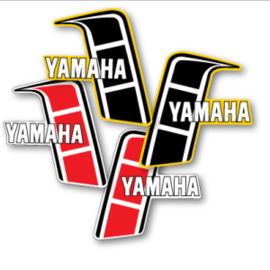 82 YAMAHA YZ Tank stikkers.