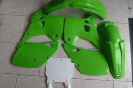 92 KAWASAKI KX125 KX250 Komplete plastik kit.