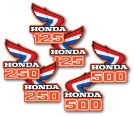 86 HONDA CR125 Radiator stikkers.