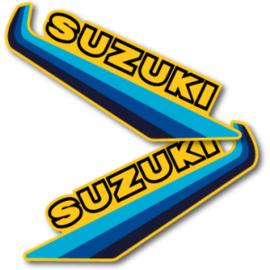 82 SUZUKI RM Tank stikkers.