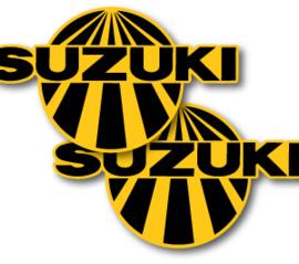 75 SUZUKI RM Tank stikkers.