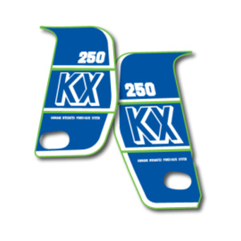 89 KAWASAKI KX Radiator decal set.