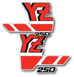 88 YAMAHA YZ Radiator stikkers.