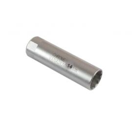 Bougie dopsleutel. recht 14mm (dunwandig)