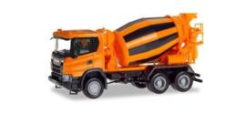 Scania CG 6x6 Betonmischer, oranje