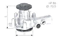 Waterpomp Alfa Romeo 6 2500 Diesel 1979 tot 1986