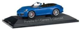 Porsche 911 Carrera S cabrio, blauw metallic (991 II)